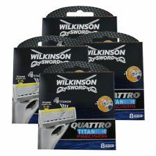 32 Wilkinson Quattro Precision Rasierklingen 4 x 8 Ersatzklingen NEU