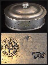 Boite à bijoux ou pilules ancienne «LES ETAINS DU GRAND DUC» 95% estampillé