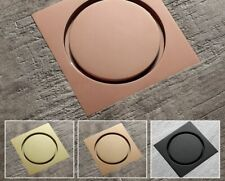 Rose Gold Square Shower Floor Drains Anti Odor Bathroom Toilet Waste Strainer
