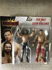 WWE The Miz vs Seth Rollins Wrestlemania Battle Pack Series Figures Mattel