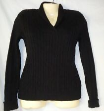 Women's Black Pullover Sweater Size PP Charter Club NWT