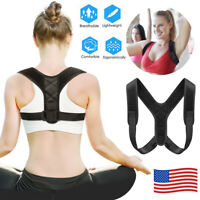 Adjustable Posture Corrector Back Shoulder Support Brace Belt Therapy Men Women