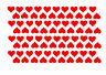 150 Heart Shape Vinyl Stickers Multy Size Self Adhesive Peel and Stick  FREE P&P