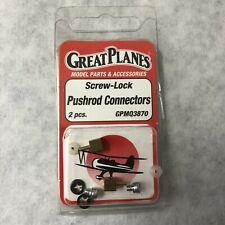 Great Planes Screw Lock Pushrod Connectors GPMQ3870 2 pcs