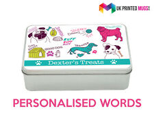 Personalised Dog Treats Box - Metal