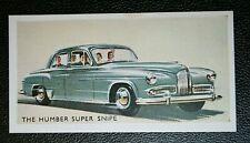 HUMBER SUPER SNIPE   Vintage Colour Card