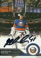 Jaroslav Halak Signed Auto 2015 Upper Deck New York Islanders Card - COA - NHL