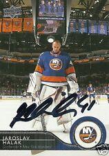 Jaroslav Halak Signed Auto 2015 Upper Deck New York Islanders Card - COA - NHL