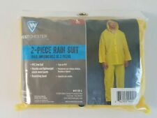 Protective Gear Pants Hooded Jacket 2 Piece Rain Suit Yellow Eva - Sz Large