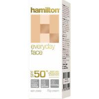 HAMILTON EVERYDAY FACE 75G SPF 50+ CREAM VERY HIGH PROTECTION SUNSCREEN
