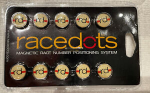 Race Dots Magnetic Jersey Number Holders