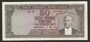 1930 (64) TURKEY 50 LIRA NOTE