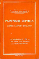 Passenger Services North Eastern England 2nd November 1959 to 12th June 1960