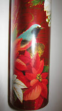 "Punch Studio MERRY BIRDS CHRISTMAS FOIL WRAPPING PAPER. 30""X 10 Feet. GORGEOUS!"