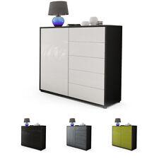 Commode Buffet Armoire Ben V2 Noir - Façades en coloris divers