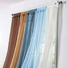 """SINGLE SLOT TOP VOILE PANELS-VARIOUS COLOURS 48""""TO 90"""""""
