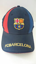FCB Barcelona One Sz Blue Red Gold Lettering Baseball Cap Hook and Loop Closure