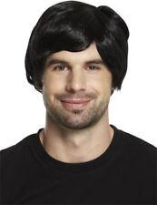 Boy Band Black 60s 70s 80s Mens Adult Male Guy Short Wig Fancy Dress Accessory