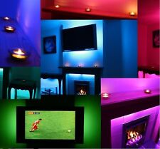 AMBIENT MOOD LIGHTING COLOUR CHANGING BACKLIGHTING SOUND RESPONSIVE LED TV LIGHT
