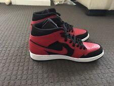 Nike Air Jordan 1 I Mid Black Gym Red White Shoes AJ1 Bred Banned 554724-054