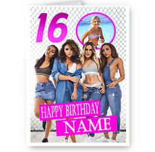 Personalised Photo, Age & Name Little Mix, A5 Happy Birthday Card New & Sealed