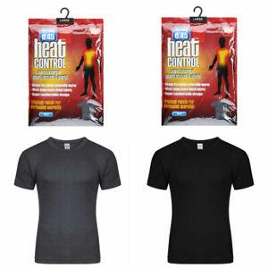 Mens Thermal T Shirt Top Warm Bottom Underwear Inner Vest Work Wear S M L XL