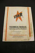 Star Machine 1045 Reliner Brake Shop Instructions & Parts Guide Shoe Drum