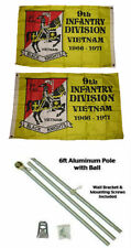 2x3 2'x3' 9th Infantry Division 2ply Flag Aluminum Pole Kit Ball Top