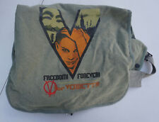 Rare Original V for Vendetta Movie Promotional Canvas Tote Messenger Bag Promo