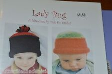 Lady Bug Felted Hat  Knitting Pattern by Pick Up Sticks baby to adult