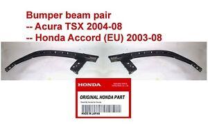 Honda Accord Acura TSX HEADLIGHT MOUNT BRACKET BUMPER BEAM PAIR LEFT AND RIGHT