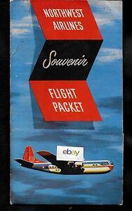 NORTHWEST AIRLINES 1950'S SOUVENIR FLIGHT PACKET BOEING STRATOCRUISER (EMPTY)