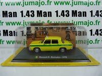 TX9F Voiture 1/43 LEO model TAXIS DU MONDE : RENAULT 8 - Bamako 1970 (Mali)