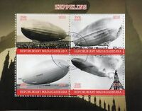Madagascar 2018 CTO Zeppelins Zeppelin 4v M/S Airships Aviation Stamps