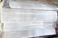 "16 "" Selenite Logs XL Natural Crystal Sticks Rough Wands BULK 8 lb LOT wholesale"