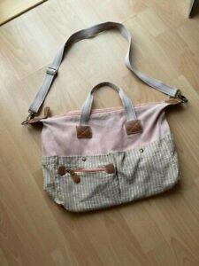 *** Sehr schöne College / Shopping Tasche in Rosa –Hellbraun von Deichmann *