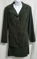 Scarlett 2 piece skirt suit. women's size 14. dark brown. long sleeve. 3 buttons