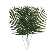 5pcs Artificial Green Plants Decorative Palm Areca Leaves Wedding Party Decor LW