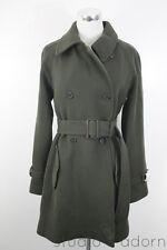 JCrew Boulevard Trench Coat Dark Artichoke 12 $325 NWT Wool Winter Jacket 18597