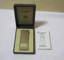 Flamex Monaco Quartz Piezo Butane Vtg. Engraved Lighter & Box  T*
