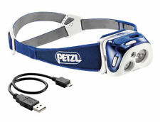 Petzl Reactik 220 Lumens LED Reactive Rechargeable Headlamp Blue New In Box