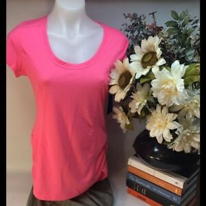 Athletic works hot pink cycling scoop neck top NWT womons size  large fitness