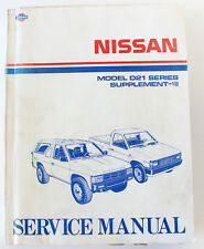 Nissan Navara D21 series factory workshop manual 1992