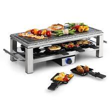 Raclette Tisch Grill Naturstein Platte Party 8 Personen Pfannen Tragbar 1500W