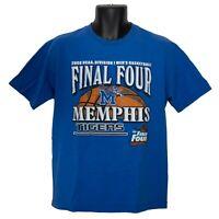 Memphis Tigers 2008 Final Four Basketball Mens T-Shirt Blue Size M Medium