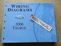 2006 Ford Taurus Mercury Sable Wiring Diagrams Manual OEM