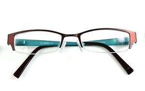 Bertelli B687 Eyeglasses Frame Maroon Teal Metal 48-18-135 Glasses