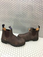 Blundstone Brown Leather Pull On Waterproof Chelsea Boots Men's Size 7.5