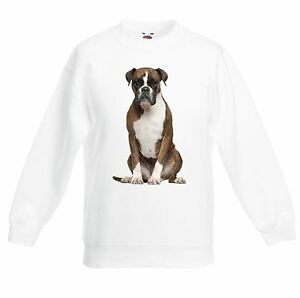 Boxer Dog Children's / Kids Unisex Sweatshirt Jumper - Pet Gift Present