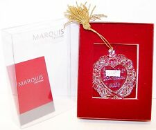 NEW 2012 Ornament MARQUIS WATERFORD Crystal Heart OUR 1st CHRISTMAS Mint in Box